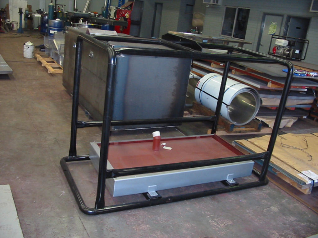 Genset Fuel tank and Transport Frame Combo 02