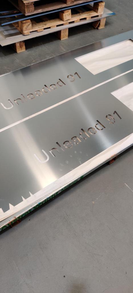 Lasercut Petrol Bowser Panels