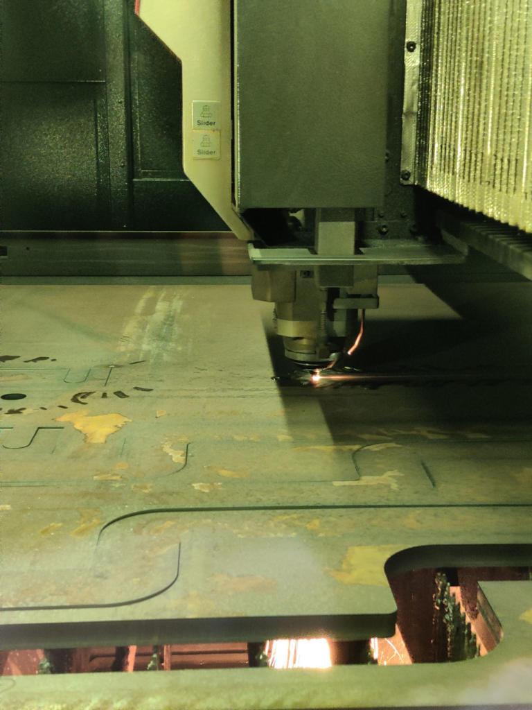Lasercutting 20mm Mild Steel