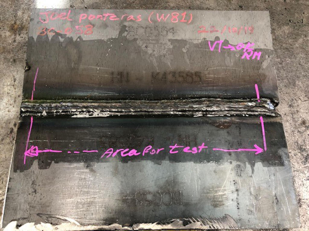 UT Welder Qualification Plate (1)
