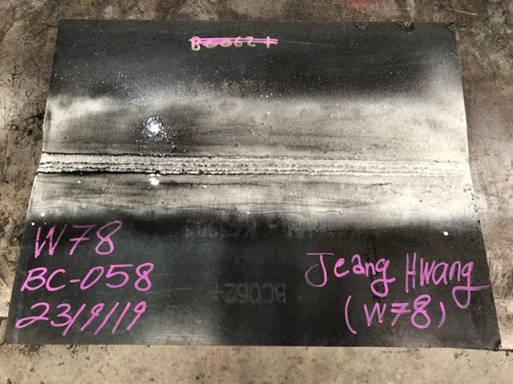 UT Welder Qualification Plate
