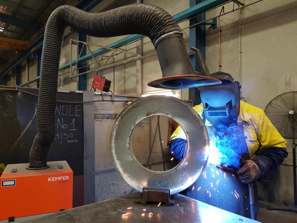 Welding Galanised Steel Fume Exctraction Safety