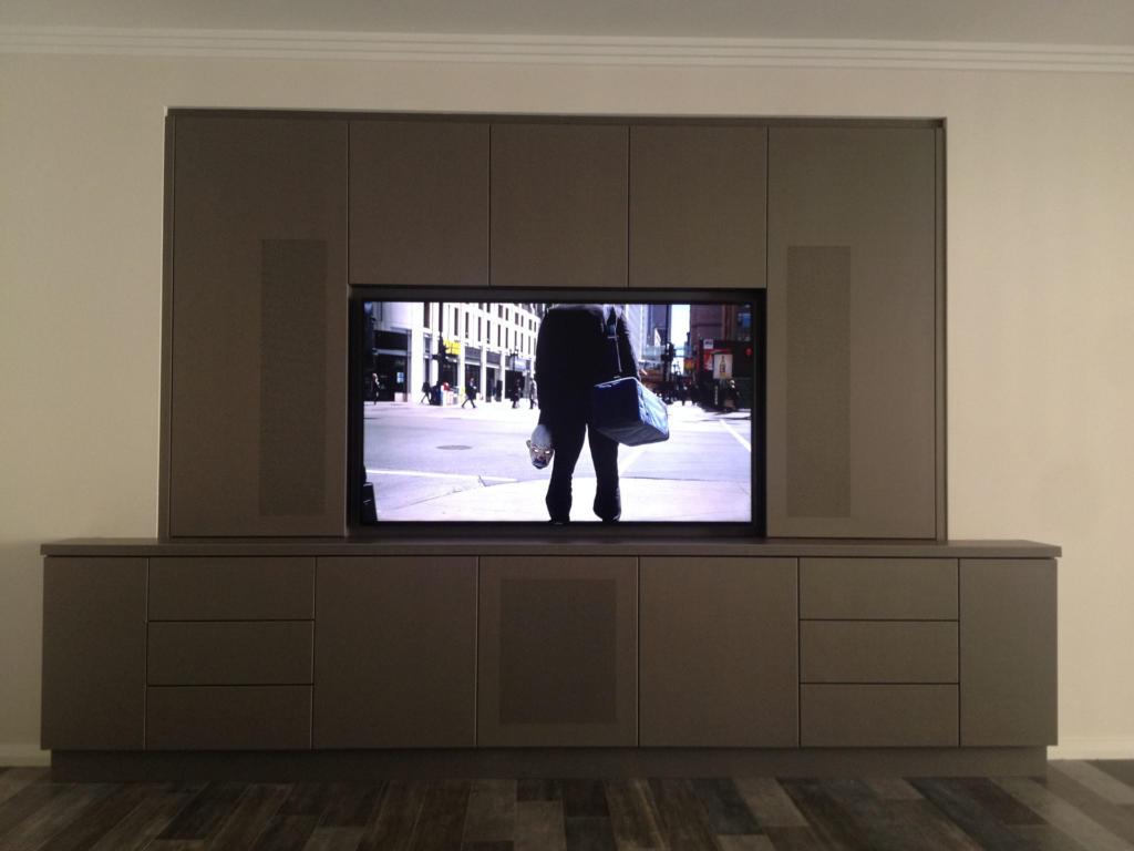 Zinc Cladding - TV Wall Unit